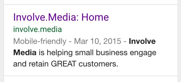 Involve Media Mobile Friendly Search