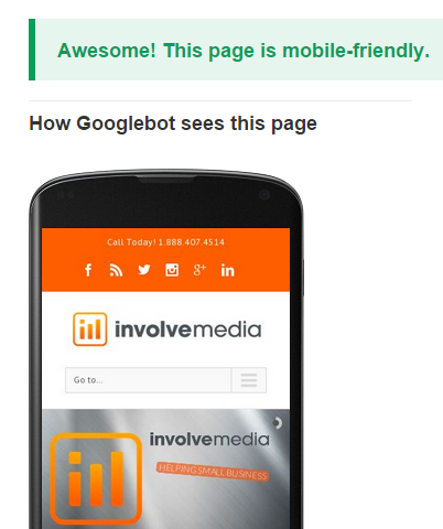 Involve Media Mobile-Friendly Test